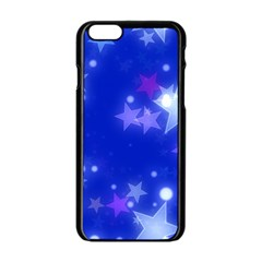 Star Bokeh Background Scrapbook Apple iPhone 6/6S Black Enamel Case