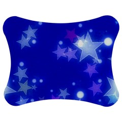 Star Bokeh Background Scrapbook Jigsaw Puzzle Photo Stand (Bow)