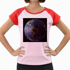 World Mosaic Women s Cap Sleeve T-Shirt