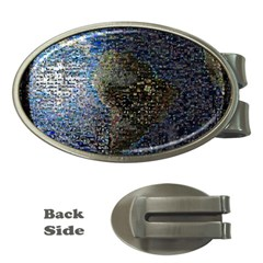 World Mosaic Money Clips (Oval)