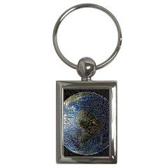 World Mosaic Key Chains (Rectangle)