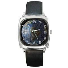 World Mosaic Square Metal Watch