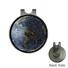 World Mosaic Hat Clips with Golf Markers