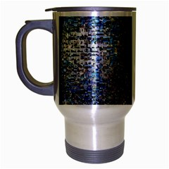 World Mosaic Travel Mug (silver Gray)