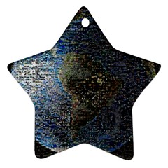 World Mosaic Star Ornament (Two Sides)