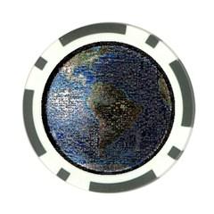 World Mosaic Poker Chip Card Guard (10 pack)