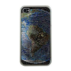 World Mosaic Apple iPhone 4 Case (Clear)