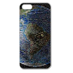 World Mosaic Apple Seamless iPhone 5 Case (Clear)