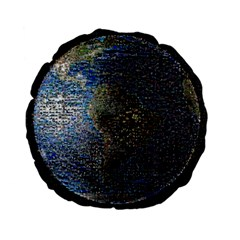 World Mosaic Standard 15  Premium Flano Round Cushions
