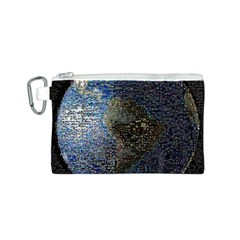World Mosaic Canvas Cosmetic Bag (S)