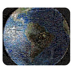 World Mosaic Double Sided Flano Blanket (Small)