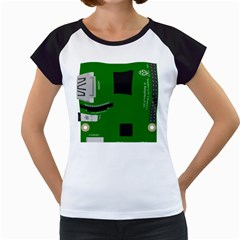 Raspberry Pi 3 Vector Women s Cap Sleeve T