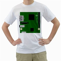 Raspberry Pi 3 Vector Men s T-Shirt (White) (Two Sided)