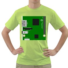 Raspberry Pi 3 Vector Green T-Shirt