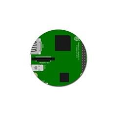 Raspberry Pi 3 Vector Golf Ball Marker (4 pack)