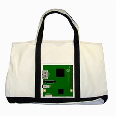Raspberry Pi 3 Vector Two Tone Tote Bag