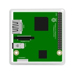 Raspberry Pi 3 Vector Memory Card Reader (Square)