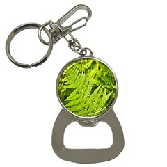 Fern Nature Green Plant Button Necklaces