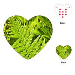 Fern Nature Green Plant Playing Cards (Heart)