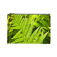 Fern Nature Green Plant Cosmetic Bag (Large)