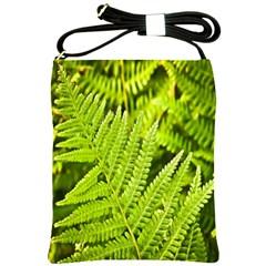 Fern Nature Green Plant Shoulder Sling Bags