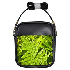 Fern Nature Green Plant Girls Sling Bags