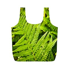 Fern Nature Green Plant Full Print Recycle Bags (M)