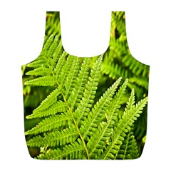 Fern Nature Green Plant Full Print Recycle Bags (l)