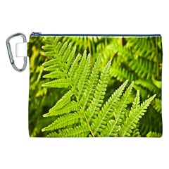Fern Nature Green Plant Canvas Cosmetic Bag (XXL)