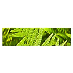 Fern Nature Green Plant Satin Scarf (oblong)