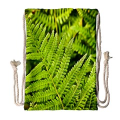 Fern Nature Green Plant Drawstring Bag (Large)