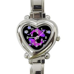 Koi Carp Fish Water Japanese Pond Heart Italian Charm Watch