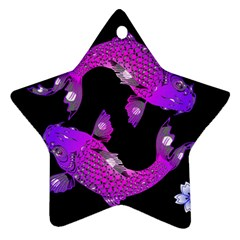 Koi Carp Fish Water Japanese Pond Star Ornament (Two Sides)