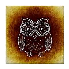 Owl Abstract Funny Pattern Tile Coasters
