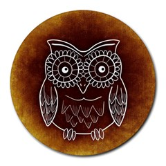 Owl Abstract Funny Pattern Round Mousepads