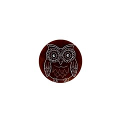 Owl Abstract Funny Pattern 1  Mini Buttons