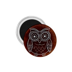 Owl Abstract Funny Pattern 1.75  Magnets