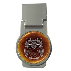 Owl Abstract Funny Pattern Money Clips (round)