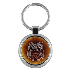 Owl Abstract Funny Pattern Key Chains (Round)