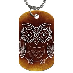 Owl Abstract Funny Pattern Dog Tag (one Side)