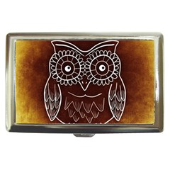 Owl Abstract Funny Pattern Cigarette Money Cases