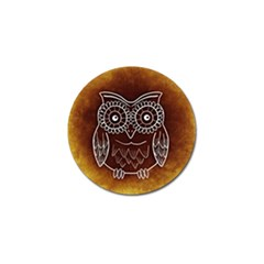Owl Abstract Funny Pattern Golf Ball Marker