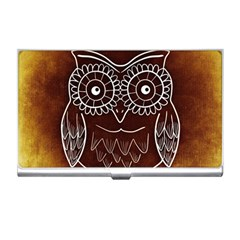 Owl Abstract Funny Pattern Business Card Holders
