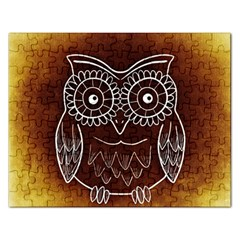 Owl Abstract Funny Pattern Rectangular Jigsaw Puzzl