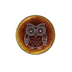 Owl Abstract Funny Pattern Hat Clip Ball Marker (4 pack)