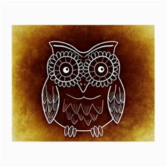 Owl Abstract Funny Pattern Small Glasses Cloth