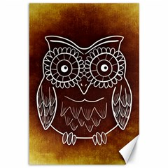 Owl Abstract Funny Pattern Canvas 12  x 18