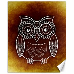 Owl Abstract Funny Pattern Canvas 16  x 20