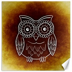 Owl Abstract Funny Pattern Canvas 20  x 20