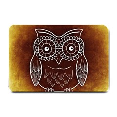 Owl Abstract Funny Pattern Small Doormat